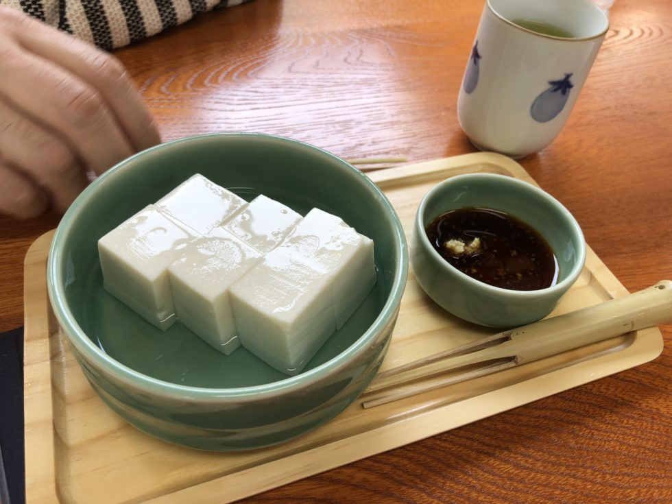 冷奴 夏 生姜醤油