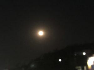 満月 夜 山