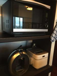 オーブン、炊飯器、コーヒー