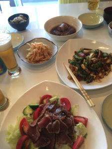 宴会、食卓、箸