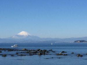 江ノ島、富士山、テラス
