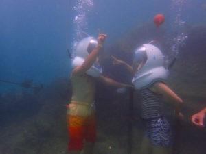 水中 シーウォーカー 海底