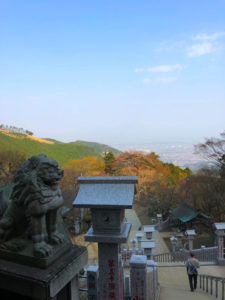 狛犬 景色 山