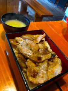 昼食 支笏湖 豚丼