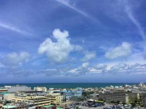 海、景色、空